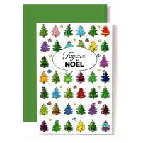 CARNET FA : JN  Sapins de Noël miniatures