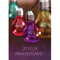 CARTE FLASH : Ampoules de couleurs (JA)