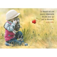 CARTE PENSEE : Enfant photographe