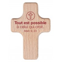 Mini-croix en bois Mot d'ordre 2020