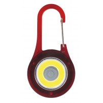Porte-clé mousqueton LED rouge