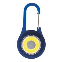 Porte-clé mousqueton LED bleu