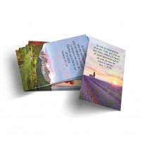 Lot de 100 mini-cartes Dieu est mon soutien