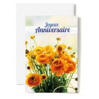 CARNET HA : Bouquet de fleurs jaunes