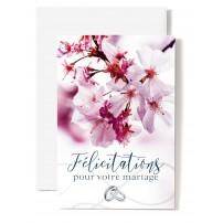 CARNET HM : Fleurs d'arbre blanches et alliances
