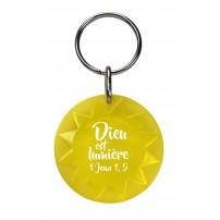 Porte-clé soleil jaune