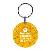 Porte-clé soleil orange avec paillettes Mot d'ordre 2020