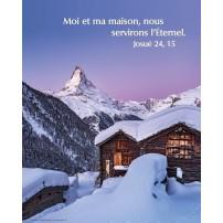 POSTER : Chalet sous la neige