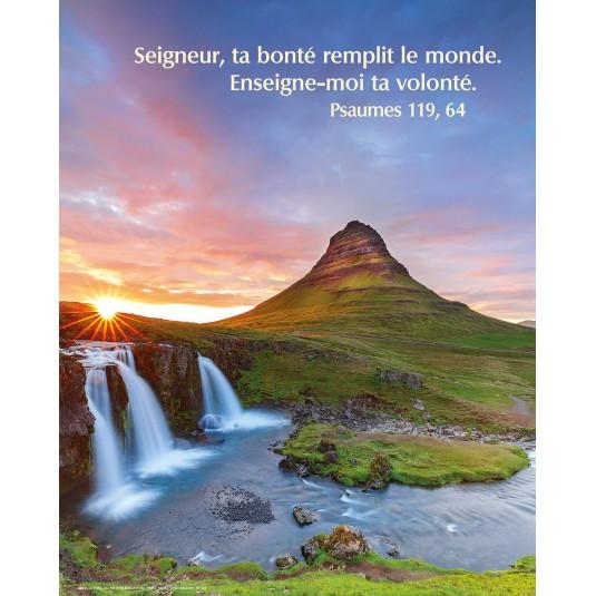 Poster Chute d'eau dans la montagne