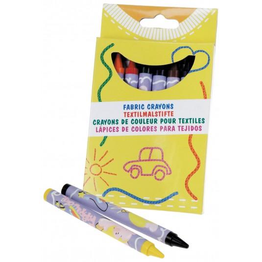 Crayons de couleurs pour textiles (8 couleurs)