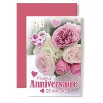 CARNET HAM : Bouquet de fleurs roses