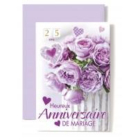 CARNET HAM : Bouquet de fleurs violettes