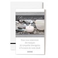 Mignonette Rem. Bougie, arum et galets
