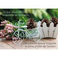Mini Carte Composition florale avec un vélo