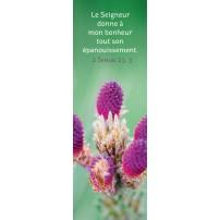 Signet Fleurs violettes sur fond vert