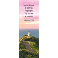 Signet Phare sur une colline au bord de la mer