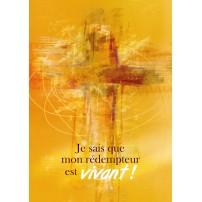 Carte Avec Verset Croix stylisée en peinture