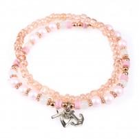 "Bracelet perles ""Foi, Amour, Espoir"" rose"