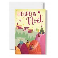 Carte double Heureux Noël Béthléhem