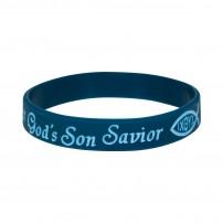 "Bracelet silicone bleu ""Savior"""