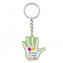 Porte-clé main Tu poses ta main sur moi.Ps 139, 5