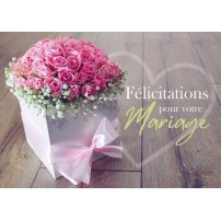 CARTE FLASH : Bouquet de roses dans une boite